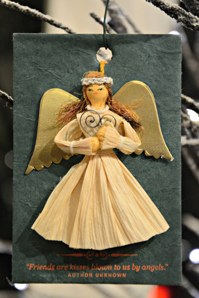 Corn Husk Angel Ornament