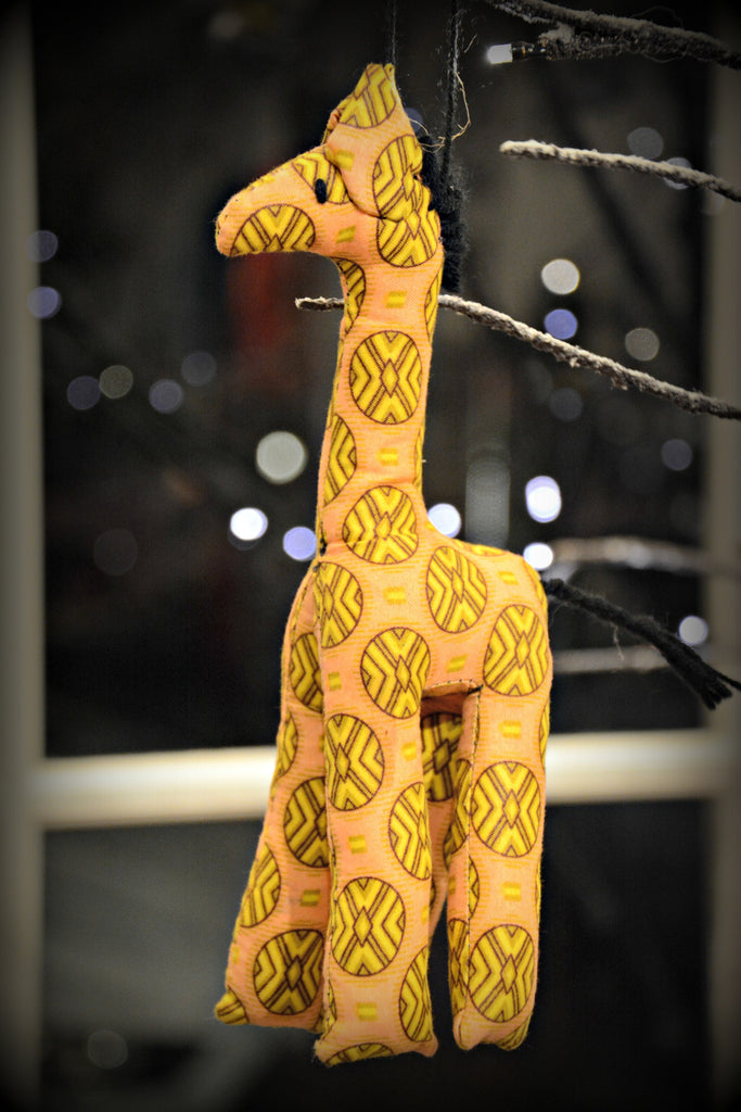 Fair Trade Kitenge Giraffe Ornament