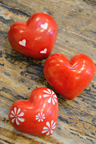 Red Heart Love Rocks