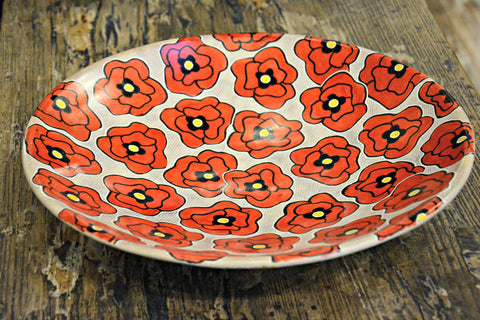 Red Poppy Soapstone Bowl