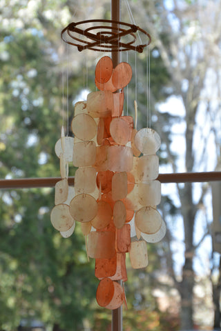 Orange Capiz Wind Chime