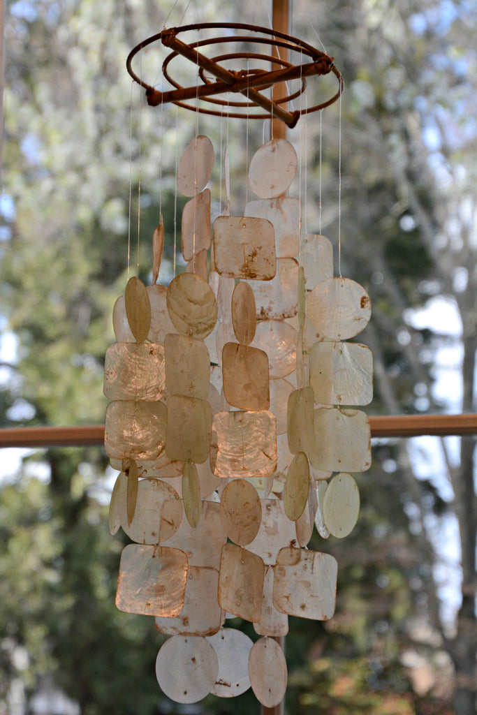 Natural Capiz Wind Chime - Medium