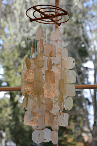 Earthtones Capiz Wind Chime - Medium