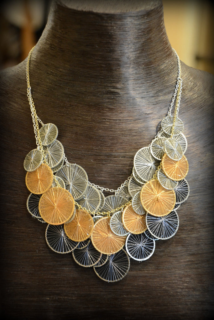 String Circles Necklace