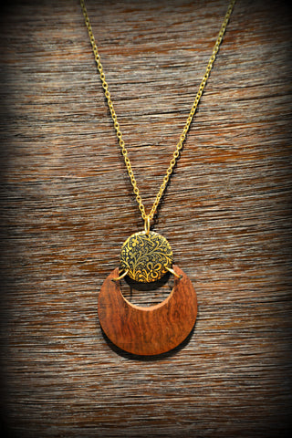 Earth & Fire Lunar Necklace