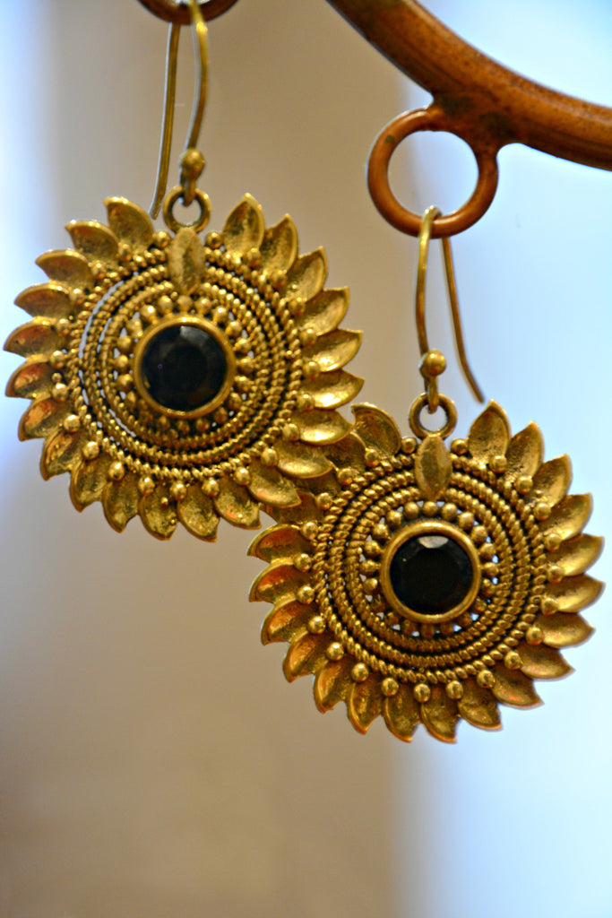 Mandala Sunflower Earrings