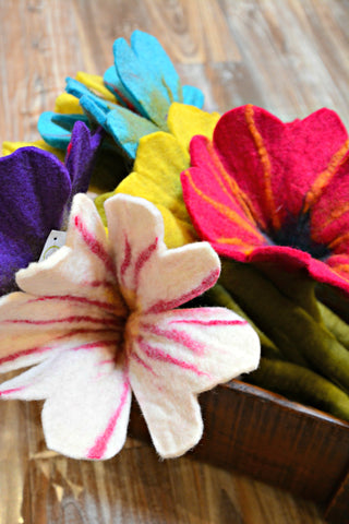 Felted Wool Flowers