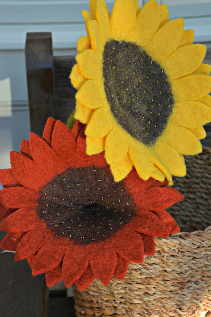 Hand Felted Sunflowers