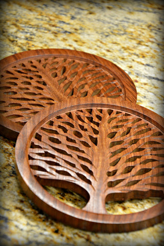 Rosewood Tree of Life Trivet