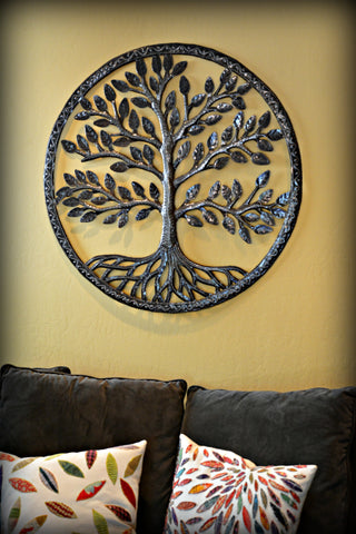 Rooted Haitian Metal Tree of Life