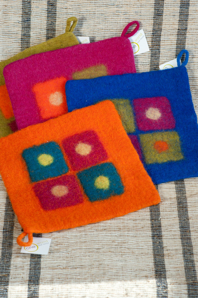 Fair Trade Felt Pot Holder