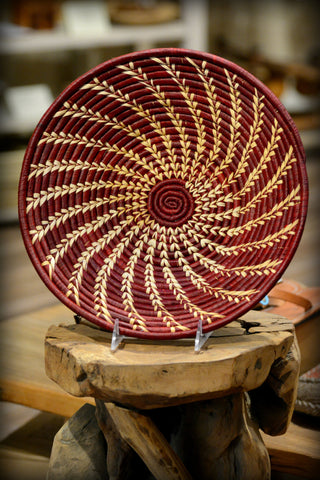 Ugandan Red Spiral Basket