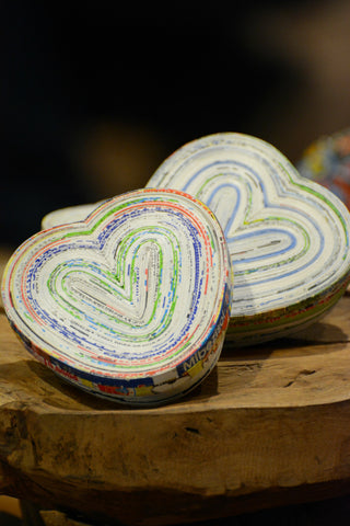 Recycled Paper Heart Box