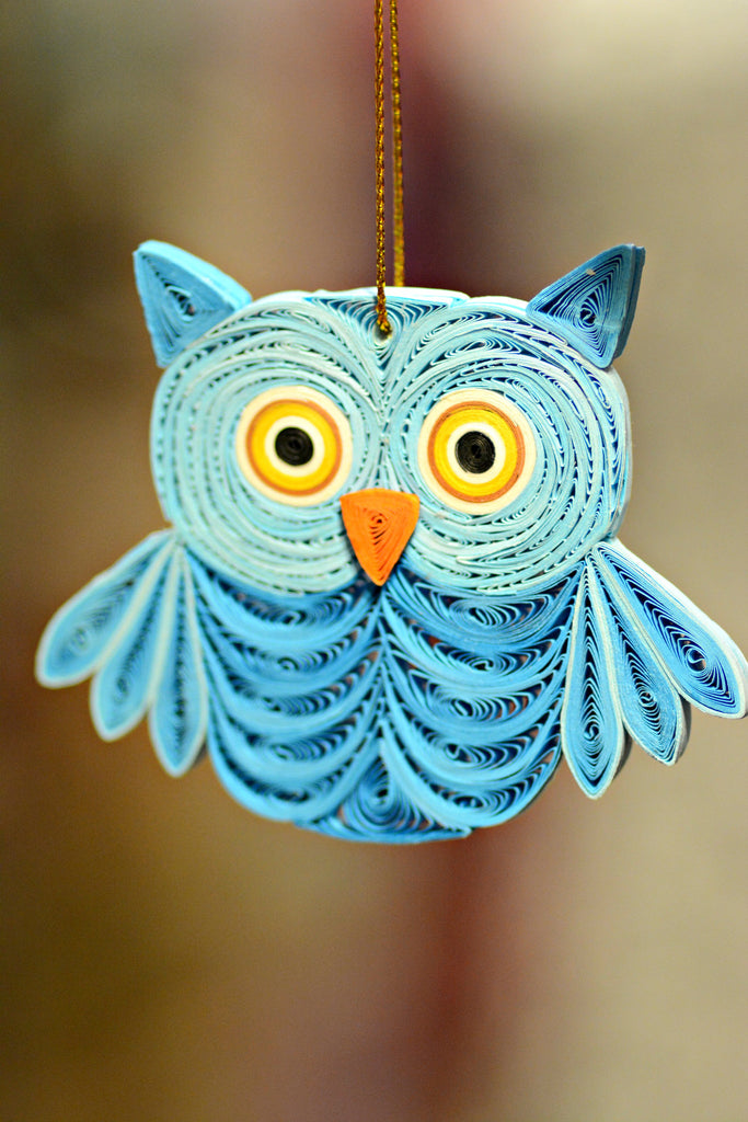 Quilled Paper Owl Ornament