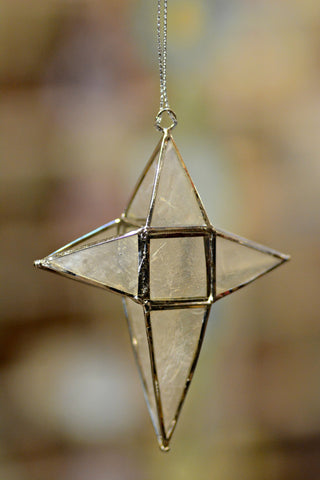 Capiz Shell Star Ornament