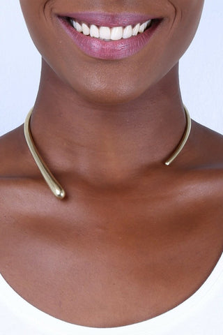 Dash Wrap Choker Necklace
