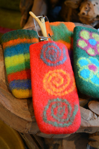 Felted Hot Pan Handle Holder/Eyeglass Case