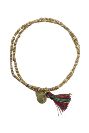 Gold Coast Tassel Bracelet - Multi