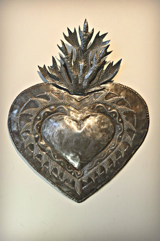 Steel Flaming Heart