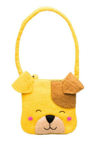 Happy Puppy Felt Bag