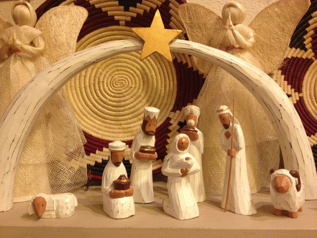 Indonesian Wood Nativity
