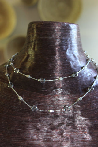 India Silver Mixed Bead Necklace