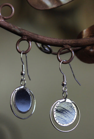Moody Sky Capiz Shell Earrings