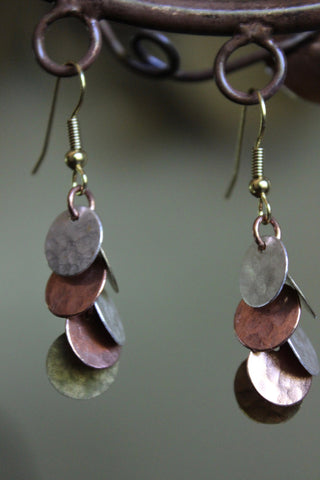 Fair Trade Tri-metal Cluster Earrings