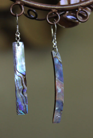 Fair Trade Linear Shell Earrings