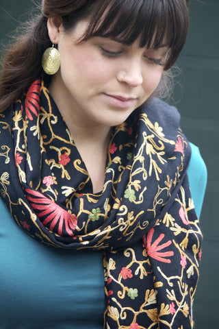 Kamal Jal Embroidered Shawl