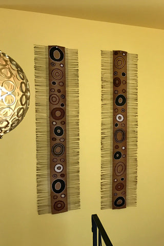 Twigs & Mudcloth Wall Hanging
