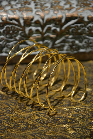 Gold or Silver Indian Brass Bracelet