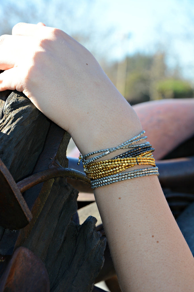 Metallic Serpentine Wrap Bracelet