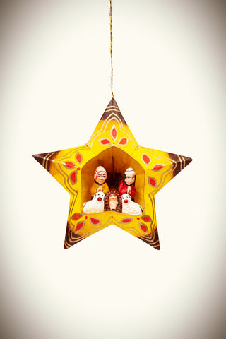 Peruvian Paper Star Nativity