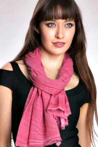Ajala Cotton Scarf - Rose
