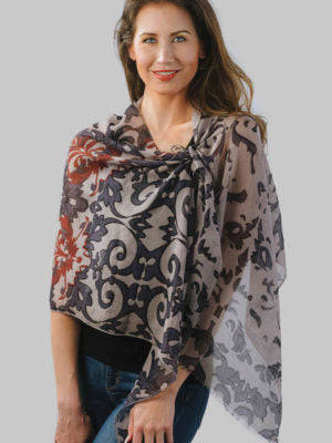 Fair Trade Alisha Silk and Cotton Scarf