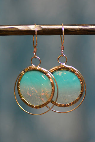 Sea Foam Capiz Earrings