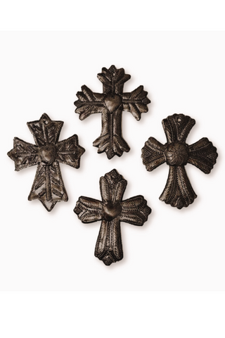 Small Haitian Metal Milagro Cross