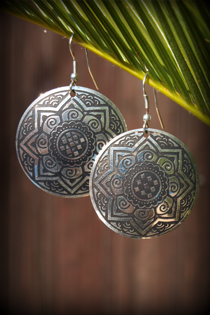 Fair Trade Silver Medallion Earrings