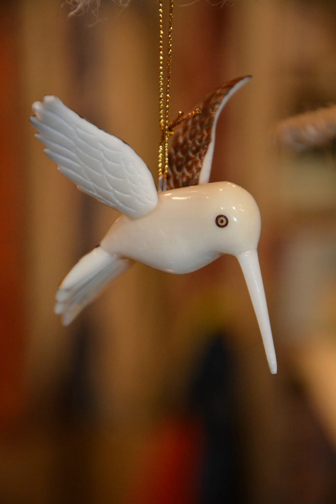 Tagua Nut Hummingbird Ornament
