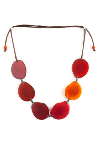 Poppy Tagua Nut Necklace