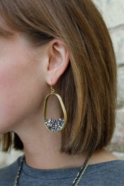 Terrarium Hoop Earrings