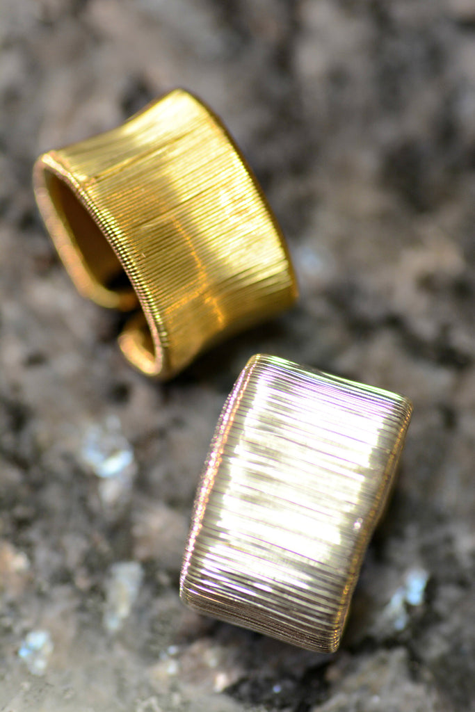 Fair Trade Silver & Gold Wire Rings