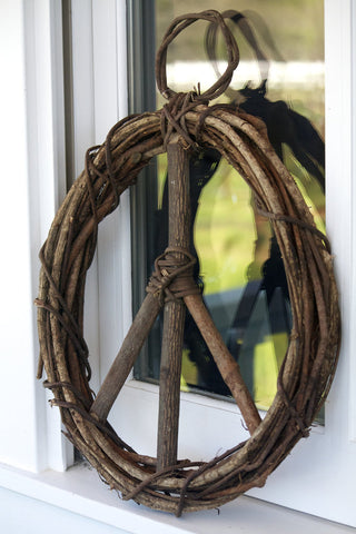 Hanging Peace Wreath