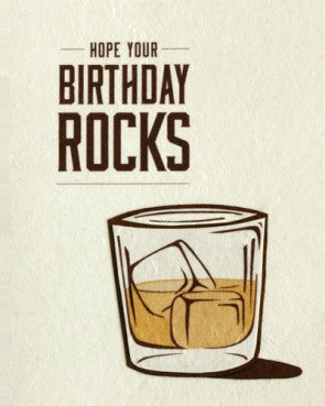 """Hope Your Birthday Rocks"" Card"