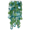 Large Fair Trade Blue & Green Capiz Wind Chime
