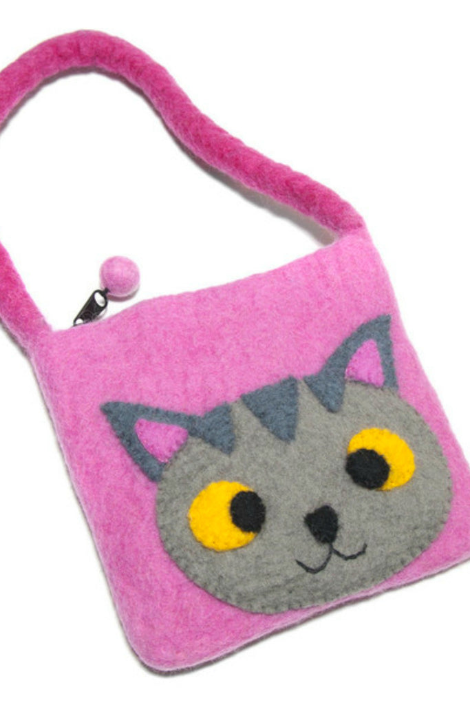 Felted Cat Child's Purse