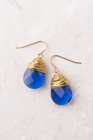 Cobalt Blue Crystal Earrings