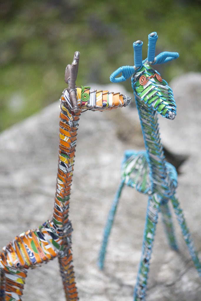 Recycled Pop Can Giraffes