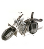 Mozambique Leather & Wire Motorcycle Sculpture